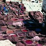 Fès: Vue sur la tannerie Sidi Moussa