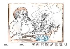 cozinheira (eduardowestin) Tags: food chicken cooking kitchen dinner lunch fat comida gorda rooster negra jantar almoo galo panela frango cozinheira ensopado