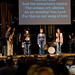 David and Csilla Muscan lead worship along with some students.