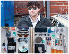John Diptych (J Trav) Tags: portrait beer sunglasses keys persona glasses nikon diptych phone wallet nye drugs cigars cds sealions whatsinyourbag drumsticks advil visine nicorette guitarpick d90 condum breathstrips contactlenscase theitemswecarry miniblowpops