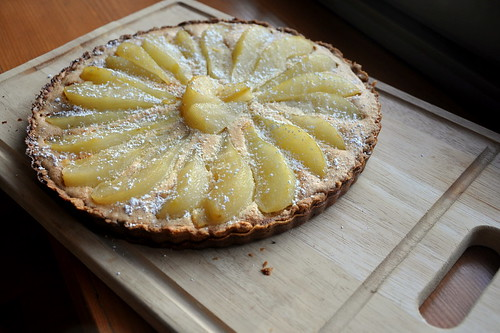 Poached Pear and Brown Butter Tart