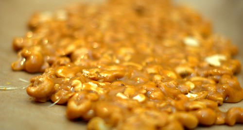 salty cashew brittle
