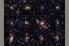 Efecto lente en galaxias