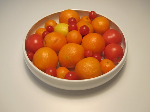 Orange from the cheerful fruit bowl