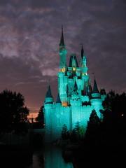 Cinderella's Castle at Sunset (Laramie_Coyote) Tags: sunset waltdisneyworld cinderellascastle flickrsilver caughtup flickrbronze disneyphotochallenge printedalready pogchallengewinners btglevel2 btglevel1 rainbowelite