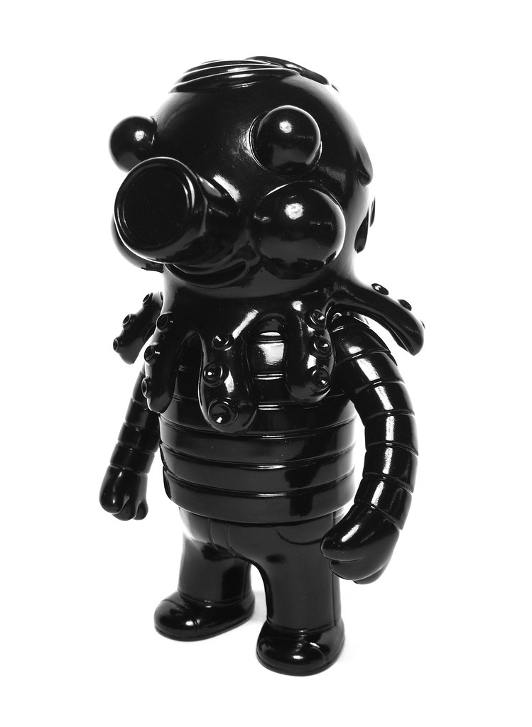 unpainted black globby, front