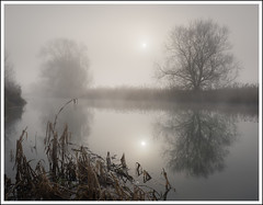 Misty River (mistymornings99) Tags: sun thames landscape river nature mist buscot photostyles weather atmosphere