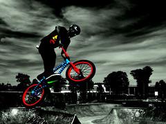 In the Air Tonight (Modernjiddu) Tags: park people color nova bike air wheels skate scotia halifax selective modernjiddu