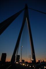 Silhouet van de Erasmusbrug 2 (Roel) Tags: zonsondergang rotterdam lucht maas erasmusbrug silhouet kleuren anawesomeshot
