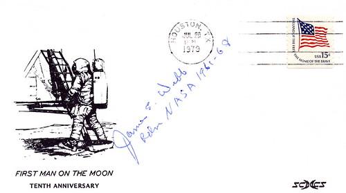1979 (07-20 APOLLO 11 APOLLO 11 / 10 ANS HOUSTON SIGNE PAR JAMES WEBB