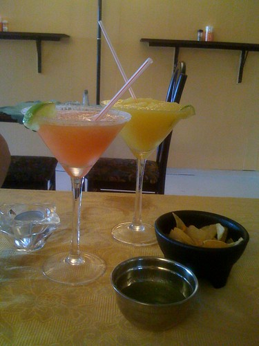 Tasty margaritas at Los Generales