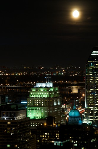 Montreal under the moonlight