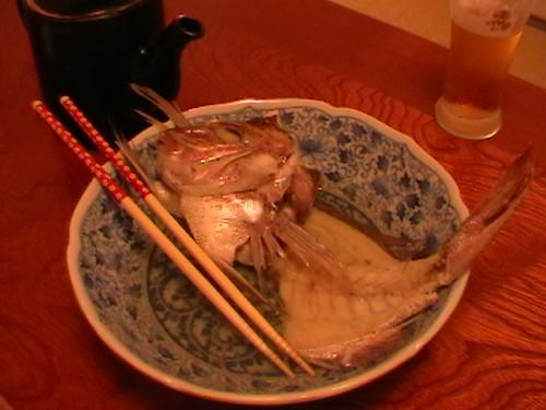 Dinner-Ikan Merah mentah