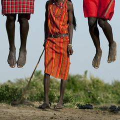 Masai warriors jumping during a dance - Kenya (Eric Lafforgue) Tags: africa feet square dance jump legs kenya culture danse tribal explore tribes warrior afrika tradition massai tribe saute ethnic moran pieds masai maasai jambes tribo headdress afrique sauter headwear ethnology headgear tribu eastafrica maassai qunia 8078 guerrier lafforgue ethnie masais  qunia    kea massais    a