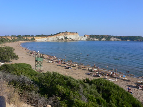 Gerakas beach with Turtle nesting sites on Zakynthos