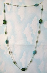 A Touch Of Green Rope Necklace