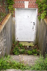 down the stairs (bluishorange) Tags: newyork abandoned longisland kingspark kingsparkpsychiatriccenter psychiatricccenter