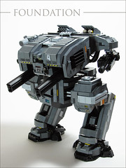 FOUNDATION Class Heavy Assault Mech (mondayn00dle) Tags: dawn lego military walker forge mecha mech foitsop brickworld