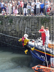 RNLI crew member falls off lifeboat
