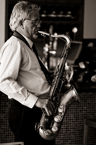 """""""Don't play the saxophone. Let it play you."""" by you."""