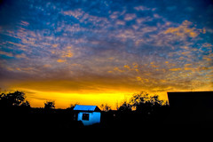 Sunset-HDR (sovetsk.jeff) Tags: blue sunset summer orange sun nikon dusk poland hdr olsztyn warmia dobremiasto d700