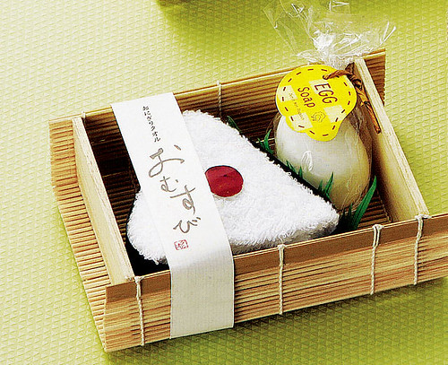 Rice-ball like Towel & Soap, Fake Food, Onigiri, Bento