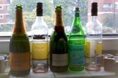 Pinhole Bottles (edopix) Tags: uk london glass bottle empty drinking pinhole alcohol rubbish transparent recycle nightafter
