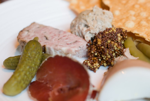 Charcuterie Plate of Terrine, Rillettes and Pate