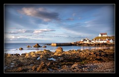 Findochty Evening (mcmax6) Tags: landscape coast scotland harbour fujifilm 2009 hdr findochty moraycoast platinumphoto s5pro derekbrown