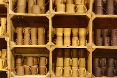 mugs, Bennington Pottery (Ed Brodzinsky) Tags: mugs ceramics vermont cups pottery decorativearts benningtonvt industrialarts benningtonpottery benningtonpotters edbrodzinsky