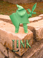 Link (the real juston) Tags: paper origami link zelda legend papiroflexia challenge monthly folding juston