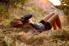 I will never let you go (the girl who made it on her own) Tags: lighting sunset red orange sun sunlight girl beautiful yellow hair sitting sundown fingers croatia run clothes flare expressive express feeling goldenhour