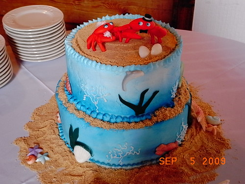 crab wedding cake