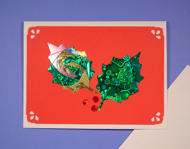 making cards: traditional iris folding for christmas