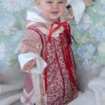 Tundra Flower Inuit Art Inspired Baby Comfort Coat Dress Sizes 1Tand 2T