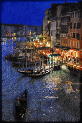 Venice By Night (rohaberl) Tags: venice italy texture soe textured infinestyle memoriesbook theunforgettablepictures saariysqualitypictures magicunicornverybest magicunicornmasterpiece