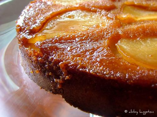 Pear Upsidedown Cake