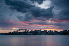 Sunset from Cremorne Point (stevoarnold) Tags: bridge sunset house storm clouds point harbor twilight opera harbour sydney australia cremorne blogtravel