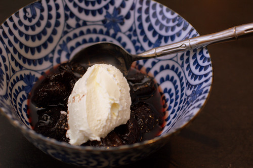 wine-stewed prunes with mascarpone