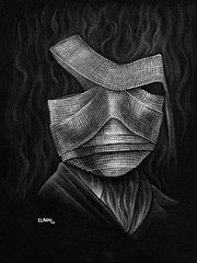 Could I Be? (robert elrod + monster portraits + swinesongcomics) Tags: bandages invisibleman universalmonster monsterart monsterportrait robertelrod