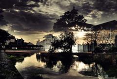 (Johnston Sans) Tags: reflection tree wall sonnenuntergang dom spiegelung greifswald plm mecklenburgvorpommern ryck pommerscheslandesmuseum