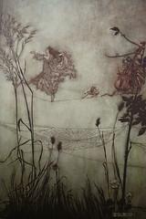 The faires are exquisite dancers. (noriko.stardust) Tags: gardens illustration book antique story peter fairy pan jmbarrie arthurrackham peterpaninkensingtongardens