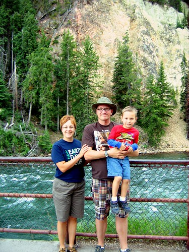 Mom, Dad, & Toby @ Lower Falls