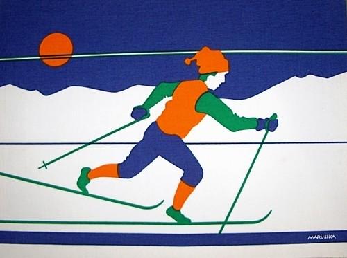 Marushka - skier print