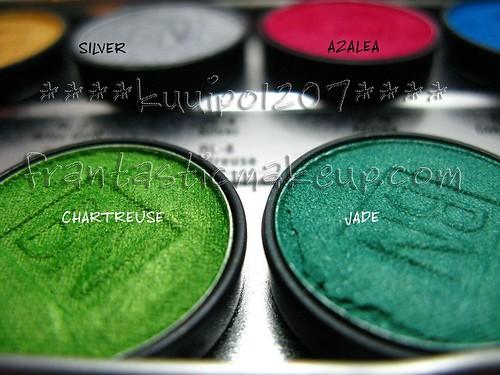 Ben Nye Lumiere eyeshadow - Jade & Chartruese