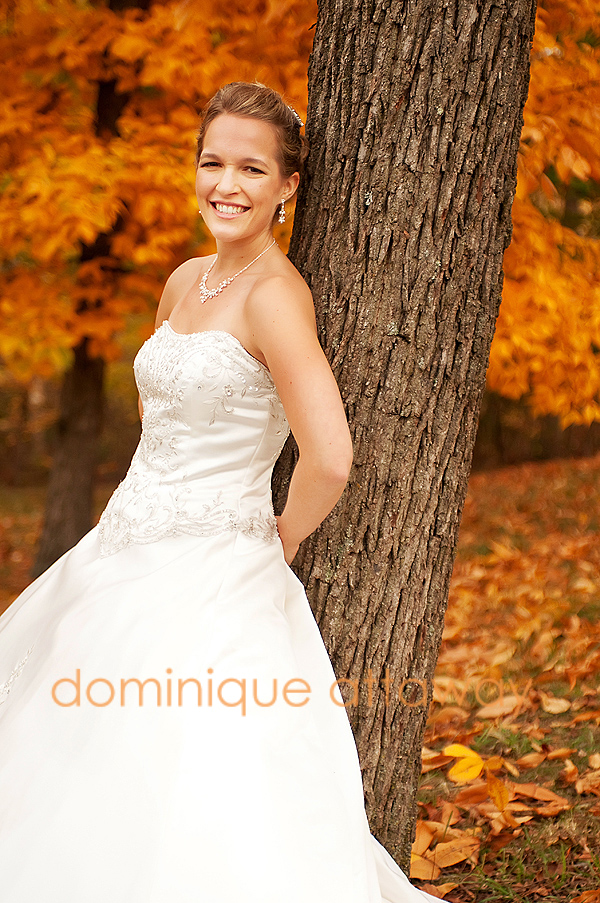 fall bridal portrait charlottesville photographer