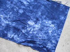dyed half yard of blue for binding