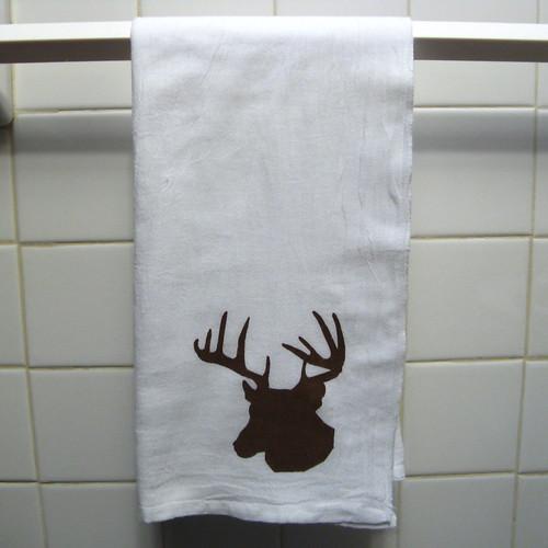 Deer Head Dish Towel