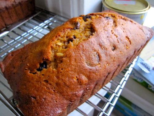 recipe perfected: chocolate chip pumpkin loaf with coconut!