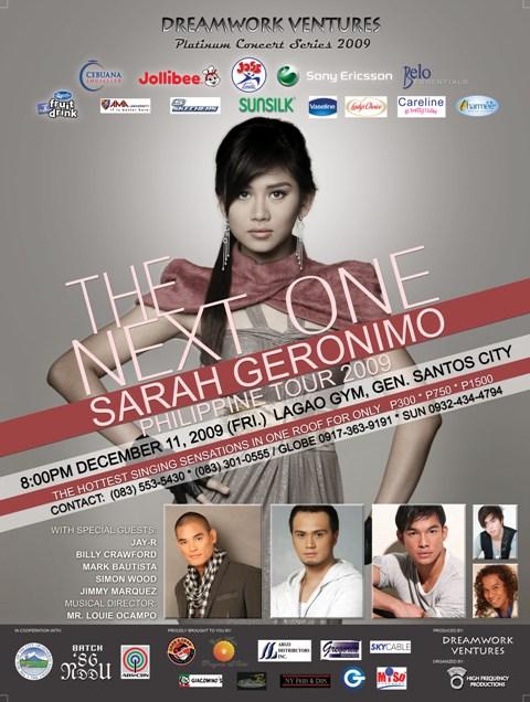 Sarah Geronimo-The Next One Concert Poster